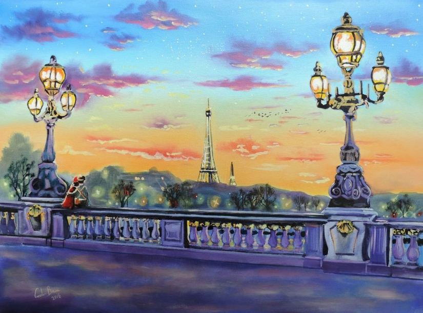 The lights of Paris painting for sale at Artfinder £350