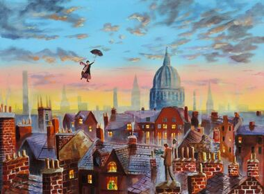 Mary Poppins oil #painting on canvas #MaryPoppins #art #instanight #gordonbruceart