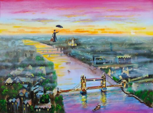 Mary Poppins original painting. #MaryPoppins #paintings