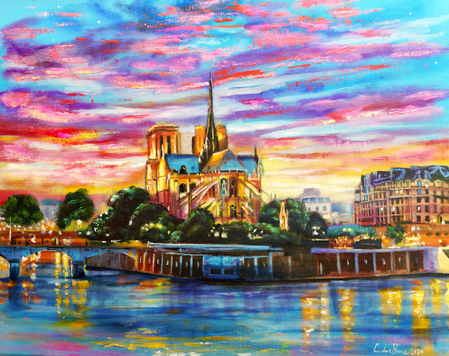 Paris painting by Gordon Bruce
