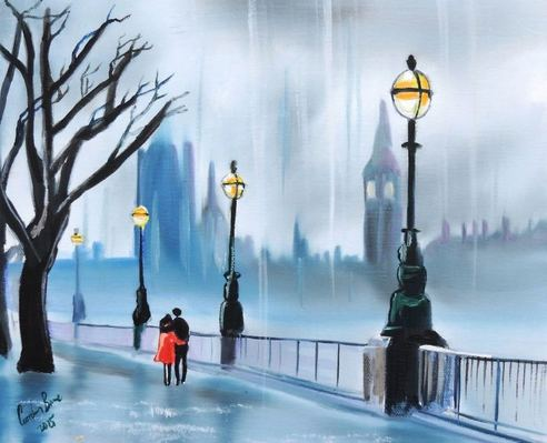 Rainy day in London #art #painting