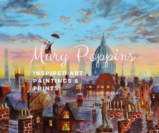 Mary Poppins inspired art, paintings and prints by Gordon Bruce